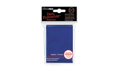 Blue Deck Protector Standard (50) NEW SIZE