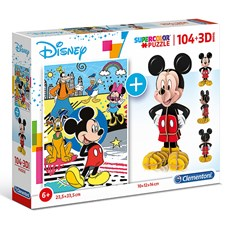 Puzzle Mickey Maus + 3D Model