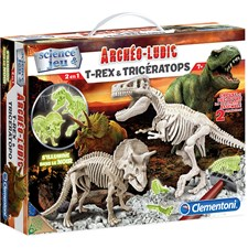 Archeo T-Rex&Triceratops FLUO