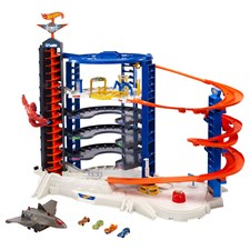 Garage City Super Ultimate Hot Wheels, Batterie 4xD exkl. ab 5+