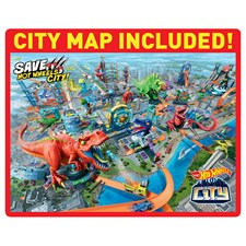 City T-Rex Attacke Hot Wheels, Batterien 4xAA inkl. ab 5+
