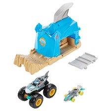 Monster Trucks Startrampe Spielset, Hot Wheels, 2-fach ass., ca. 25x16x11 cm, ab