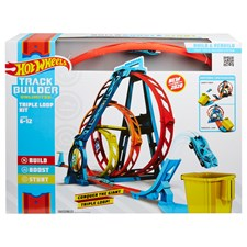 Track Builder Looping-Set Unlimited, Hot Wheels, 3-facher Looping, ab 6+