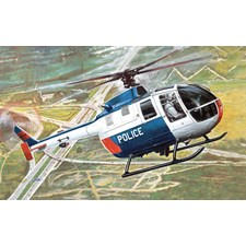 Plastikmodell Helikopter BO 105 Police Helicopter