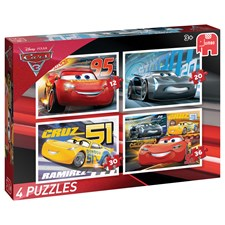Puzzle Cars 3, 4 in 1