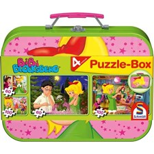 Set Bibi Blocksberg- Puzzle-Box - im Metallkoffer