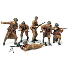 Plastikmodell WWII French Infantry Set