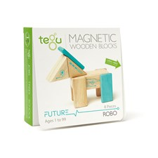 Magnetisches Holzset Robo, 8 Teile