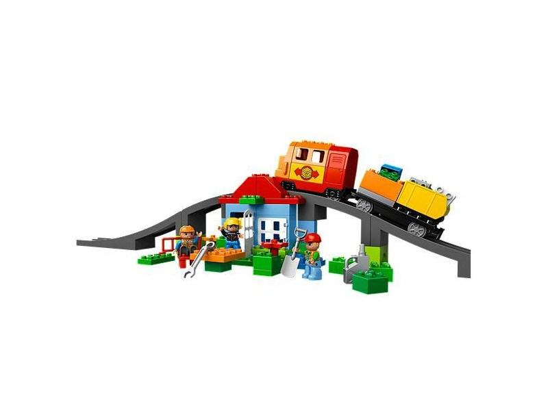 Lego konstruktions spielzeug eisenbahn super set